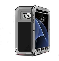 Galaxy S7 Case,Mangix Love Mei  Gorilla Glass Luxury Aluminu