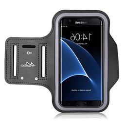 Galaxy S7 Edge Armband, MoKo Sweatproof Sports Armband Exerc