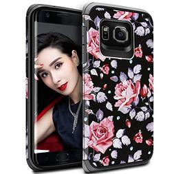 Galaxy S7 Edge Case for Girls Women, Samsung S7 Edge Floral