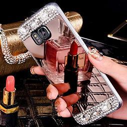 Galaxy S7 Edge Case, S7 Edge Mirror Case, PHEZEN Luxury Crys