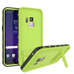PunkCase Galaxy S9 Waterproof Case,      Armor Cover W/Built