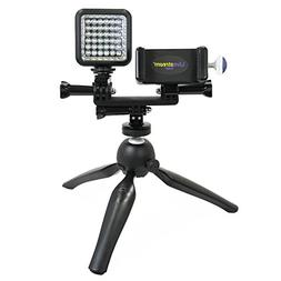 Livestream Gear - Smartphone & LED Light Tripod Live Stream,