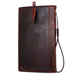 Genuine Italy Oil Leather Case for Iphone 6s Plus Book Walle