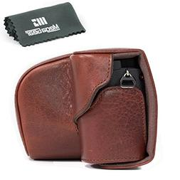MegaGear Ever Ready Genuine Leather Camera Case, Bag for Son