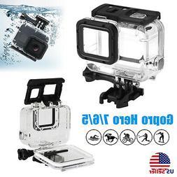 For Gopro Hero 7/6/5 Camera Underwater Waterproof Diving Sur