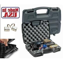 Gun Hard Case Handgun Double Single Box Lock Pistol Revolver