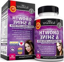 Hair Growth Vitamins with Biotin. Exclusive Hair Growth Prod