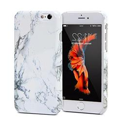 GMYLE Hard Case Print Crystal for iPhone 6  - White Marble P