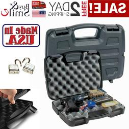 Hard Gun Case Pistol Handgun Foam Storage Box Tactical Revol