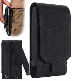 Heavy Duty Large Belt Cell Phone Pouch Case Clip Holster for