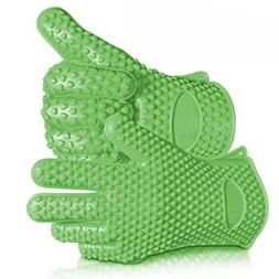 Highly Rated Silicone BBQ Gloves - Perfect For Use As Heat R
