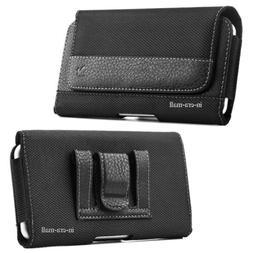 Horizontal Large CellPhone Pouch Cover Belt Clip Holster Cas