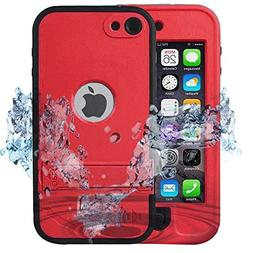 iPod 6 Waterproof Case,ComsooniPod 5 Touch Defender Case Bui