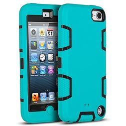 iPod Touch 6 case,iPod Touch 5 Case,ULAK  Hybrid Rugged Comb