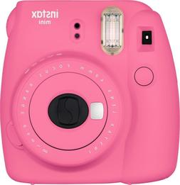 New Fuji Instax Mini 9 Flamingo Pink Camera with Mini Film T