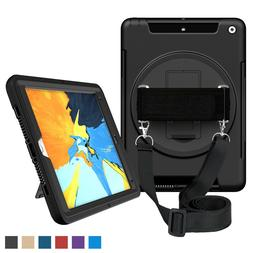 For iPad 4th Generation Case 360 Rotating Case Cover Built-i