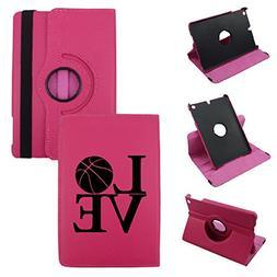 iPad Mini 1/2/3 Love BasketBall Synthetic Leather Rotating C