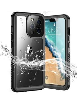 iPhone 13 Pro Case Waterproof IP68, Full Body Cover w Built