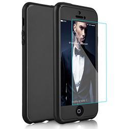 iPhone 5/5S/SE Case, DecaStars   2-in-1 Skin Phone Case Cove