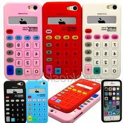 for iphone 5 5s soft tpu calculator design case skin white b