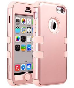 iPhone 5C Case, ULAK 3in1 Anti Slip IPhone 5C Case Hybrid wi