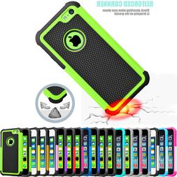 For iPhone 5C Hybrid Dual Layer Impact Defender Rugged Slim