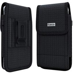 Bomea Rugged Nylon iPhone 8 6 6s 7 Holster Black Carrying Ce