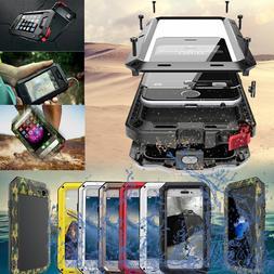 For iPhone 6 6S 7 Plus Aluminum Metal Waterproof Shockproof