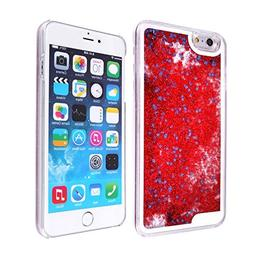 iPhone 6 6s Plus Case-Yoption Transparent Plastic 3D Glitter