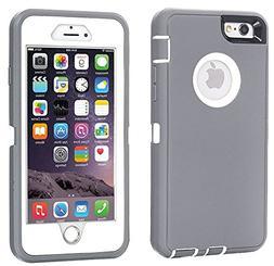 iPhone 6 Case, iPhone 6S Case  AICase Tough 3 in 1 Rugged Sh