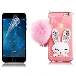 iPhone 6 Plus Rabbit Case, iPhone 6S Plus Cute Case Cover, B