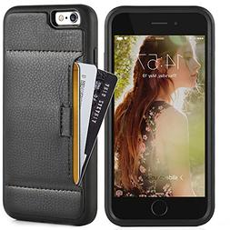 Iphone 6 plus Wallet Case, ZVE apple iphone 6s plus leather