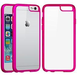 iPhone 6s Case Pink, LUVVITT  Hybrid Scratch Resistant Back