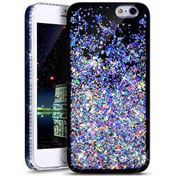 iPhone 6S Plus /6 Plus Case,PHEZEN Twinkle Glitter Star Liqu
