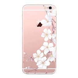 Qissy iPhone 6sPlus 6Plus Case girl Cherry Blossom Rabbit Ro