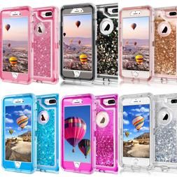For Apple iPhone Glitter Liquid Flowing Sparkle Clear Bling