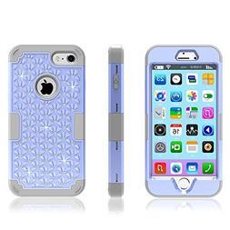 iPhone 7 Case, KAMII  3 in 1 Hard PC+Silicone Hybrid Shockpr