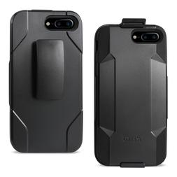REIKO IPHONE 7 PLUS 3-IN-1 HYBRID HEAVY DUTY HOLSTER COMBO C