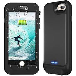 iPhone 7 Plus/8 plus/6s Plus/6 Plus Waterproof Battery Case,
