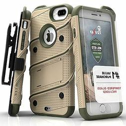 iPhone 7 Plus Case, Zizo  w/ FREE  Kickstand  Holster Clip -