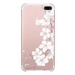 Qissy iPhone 7Plus 5.5 Case girl Cherry Blossom Rabbit Roses