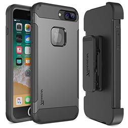 Trianium iPhone 8 Plus Case  with Holster Case Heavy Duty Co
