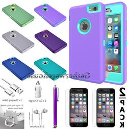 For iPhone Apple 6 / 6S Plus Hybrid Hard Shockproof Rugged H