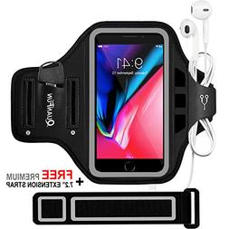 QUANFUN Compatible iPhone 8 10 7 6 6s Phone Armband, Water R