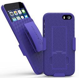 iPhone 5 5S SE Belt Clip Case: Stalion® Secure Holster Shel