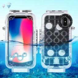 HAWEEL For iPhone X 40m Underwater Photography Waterproof Sw