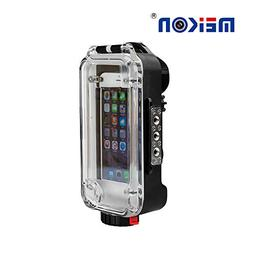 MEIKON iPhone X/6/7/8 Waterproof Case Black Bluetooth Contro
