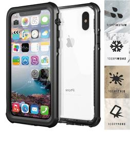 For iPhone X Waterproof Case,Diving Shockproof Dirtproof Sno
