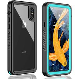For iPhone X XS Waterproof Case Built-in Screen Protector Sh