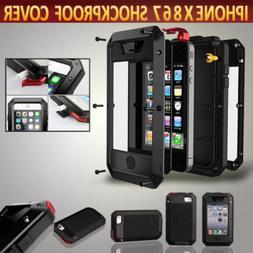 iPhone XR 8 Plus Case Full Body Shockproof Waterproof Alumin